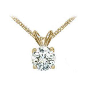 1.51 Ct. Diamond G Si1 Pendant With Chain Gold Nec